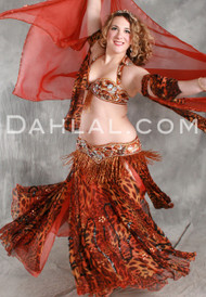 PROWLING PAGEANTRY by Pharaonics of Egypt, Egyptian Belly Dance Costume, Available for Custom Order