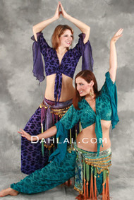 TRIBAL BEAUTY Wrap Top and Harem Pant Set, Belly Dance Costume