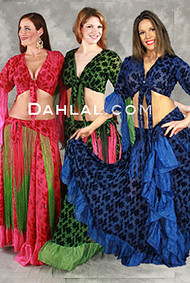 GYPSY PASSION Three Piece Set, Belly Dance Costume