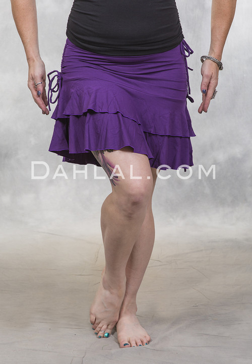 Purple Ruffle Mini Skirt by Queen of Hearts