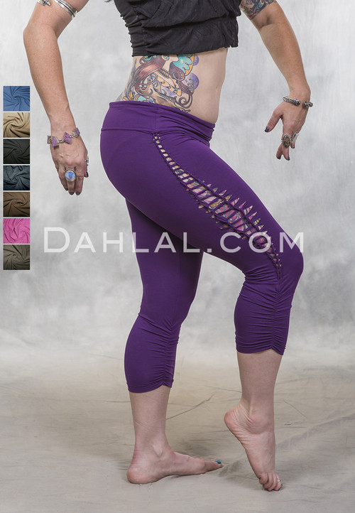 braided capri leggings