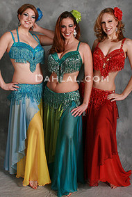 BEYOND THE BASICS III Bra and Belt Set by Rising Stars, Egyptian Belly Dance Costume for Custom Order