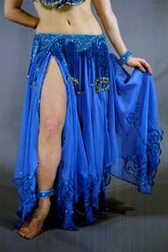 OMAYMA Skirt & Cape Set by Pharaonics of Egypt, Egyptian Belly Dance Skirt, Available for Custom Order