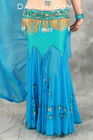 DAGUEE Skirt & Veil by Pharaonics of Egypt, Egyptian Belly Dance Skirt, Available for Custom Order