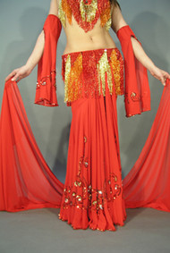 NOOR Skirt & Veil by Pharaonics of Egypt, Egyptian Belly Dance Skirt, Available for Custom Order