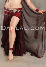 FLIRTY FLAIR II Skirt & Veil by Pharaonics of Egypt, Egyptian Belly Dance Skirt, Available for Custom Order