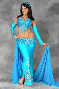 GREAT LOOP Ensemble by Pharaonics of Egypt, Egyptian Belly Dance Costume, Available for Custom Order