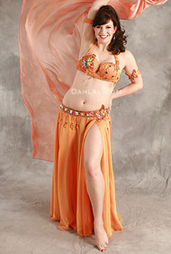 SPRIGHTLY SHIMMIES  by Hoda Zaki, Egyptian Belly Dance Costume, Available for Custom Order