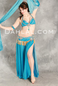 TIDAL BEAUTY II by Hoda Zaki, Egyptian Belly Dance Costume, Available for Custom Order
