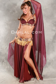 SWEET SERENDIPITY by Hoda Zaki, Egyptian Belly Dance Costume, Available for Custom Order