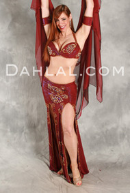 A NEW LEAF by Hoda Zaki, Egyptian Belly Dance Costume, Available for Custom Order