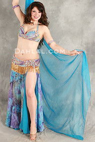 TIDAL BEAUTY   by Hoda Zaki, Egyptian Belly Dance Costume, Available for Custom Order