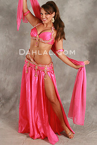 SPARKLING SEVENTIES by Hoda Zaki, Egyptian Belly Dance Costume, Available for Custom Order