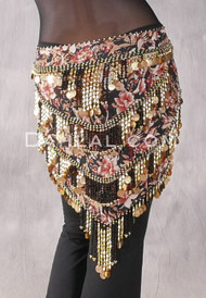 Egyptian Beaded Pyramid Hip Scarf, Style 4 - Several Colors Available