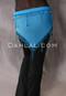 Turquoise Single Row Beaded Crocheted Egyptian Scarf