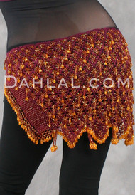 Beaded Crocheted Hip Scarf from Egypt