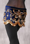 Navy with Gold Beading and Coins