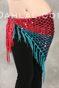 Two Tone Glitter Sequin Wrap, for Belly Dance image