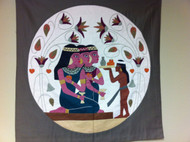 Pharonic Applique Artwork: Egyptian Women at a Party