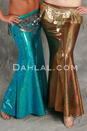 Akhet Holographic Lycra Mermaid Skirt
