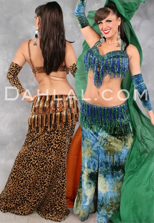Zahra Velvet Mermaid Skirt and Sleeve Set
