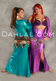 AKHET Holographic Lycra Beledi Dress by Off the Nile