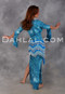 Blue Streamers & Confetti Saidi Belly dance dress