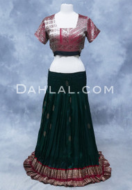GYPSY SKIRT OF VINTAGE SARI FABRIC, for Belly Dancing
