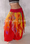 Red Smocking with Red, Yellow, Orange and Green