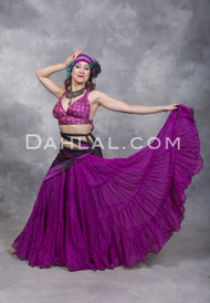 Cotton Tiered 25 Yard Skirt for Tribal Bellydance