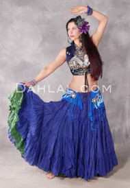 Cotton 25 Yard Tribal Skirt in Royal Blue
