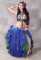 Royal Blue Over Green Tribal Essentials Skirt
