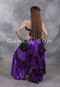 Black, Lavender and Purple Extra Full Gypsy Skirt for Tribal Belly Dance