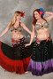 EXTRA FULL, DIP-DYE GRADIENT HEM TRIBAL ESSENTIALS SKIRT, for Belly Dance image