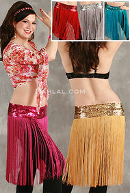 FRINGE SKIRT with STRETCH SEQUIN BAND, for Dance image
