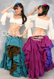Four Tiered Tribal Skirts