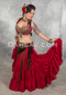 Wine Tribal Skirt
