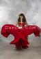 Red Tribal Skirt in Motion