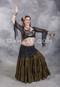 Dark Olive Tribal Skirt