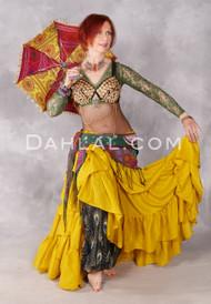 Gold Extra Full 25 Yard Tribal Skirt