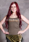 olive belly dance tank top