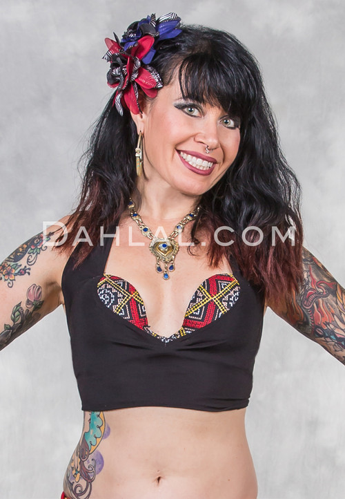Bedouin Trimmed Tribal Bra Top from Egypt