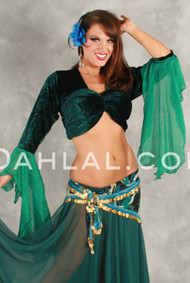 Velvet Drop Sleeve Choli, for Belly Dance image