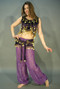 Velvet Tassel Coin Top and Wrap, for Belly Dance image