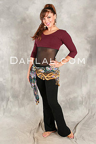 IMPERIAL 3/4 Sleeve Unitard w/Contrast Color Top by Off The Nile