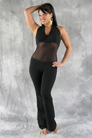 LUXOR Halter Neck Mesh Middle Unitard by Off The Nile