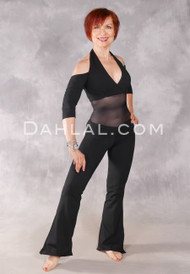 Alexandria Cold Shoulder Unitard