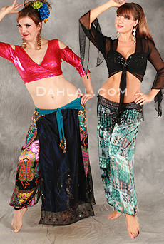 HAREM PANTS in paisley silk image