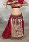 Red Bloomers shown with Silk Panel Skirt
