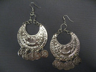 Coin Earrings - Style 10, Gold or Silver